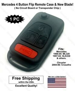 New Mercedes Benz Flip Remote Key Fob Shell Case And Blade Ml 320 430 Slk 230