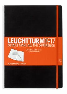 Leuchtturm1917 Whitelines Link Hardcover Academy Pad Notebook A4 Ruled Paper