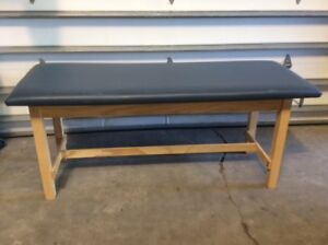 Clinton Industries 100 27 Flat Top Straight Line Treatment Table Medical Exam