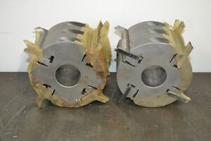 Used 5 3 8 D X 4 L X 1 13 16 Bore 4 Knife Moulder Cutterheads 2