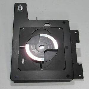 Nikon 6x6 Travel Stage W Quick Release Wafer Plate For Optiphot Microscopes