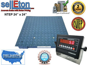 Ntep legal Industrial Warehouse 24 X 24 2 X 2 Floor Scale 5000 X 1 Lb