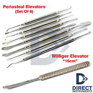 Williger Periosteal Elevator Bent Raspatory Orthopedic Implant Sinus Lifting Set