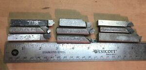 Lot Of 9 Handmade Carbide Tipped Lathe Bits