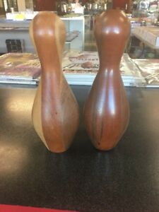 Antique Wooden Small Bowling Pins C61