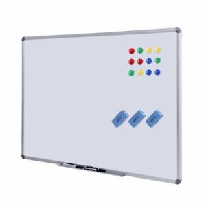 Dry Erase Board White Board 48 X 36 Magnetic Dry Erase Board With Aluminum 3 4