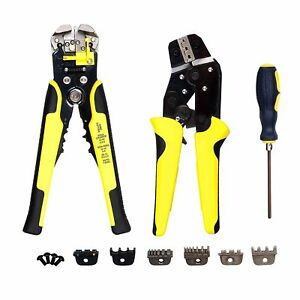 Wire Stripper Crimper Tool Crimping Stripping Cable Cutting Cutter Pliers Kit
