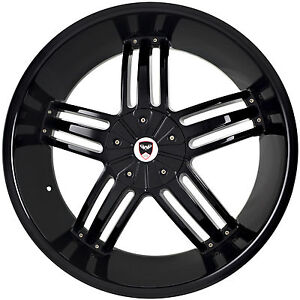 4 Gwg Wheels 22 Inch Black Spade Rims Fits Jeep Grand Cherokee 2005 2013