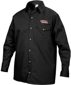 Lincoln Electric Fire Resistant Medium Black Cloth Welding Shirt