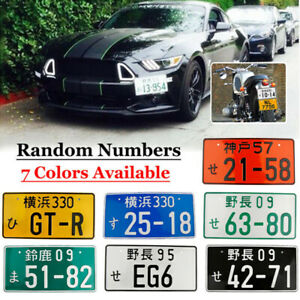 Universal Number Japanese Japan License Plate Aluminum For Honda Toyota Nissan
