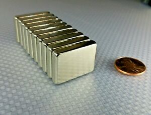 20 Huge Neodymium Block Magnets Super Strong Rare Earth N52 1 3 4 3 16