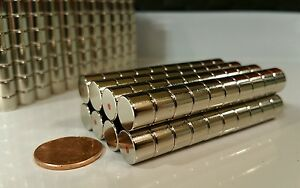 50 Large Neodymium Cylinder Disc Magnets Super Strong N52 Rare Earth 3 8 1 4