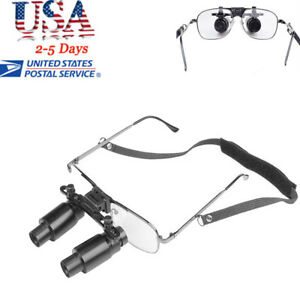 Dental Surgical Medical Loupes Glass Magnification 6 5x 300 500mm Lens Magnifier