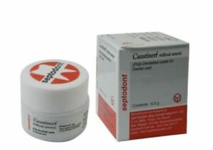 2 X Caustinerf Without Arsenic Pulp Devitaliser By Septodont Free Shipping