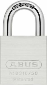 Abus 83ic 50 S2 Sfic Small Format Interchangeable Core Brass Chrome Plated All 1
