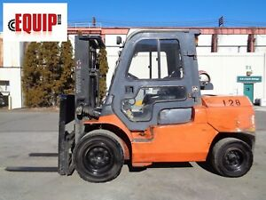 Toyota 7fgu45 10 000 Lbs Forklift Boom Truck Enclosed Cab Side Shift