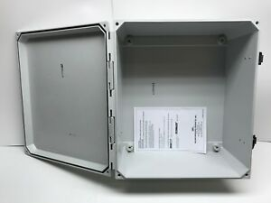 14x12x6 Fiberglass Enclosure With Latches Allied Moulded Amu1426lf Free Ship