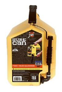 6 Surecan 5 Gal Diesel Fuel Can With Rotating Flexible Spout Fueling Sur50d1