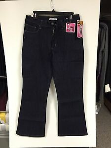 Petite Lee Jeans Size 12P Blue Denim Classic Fit Skinny Bootcut Stretch