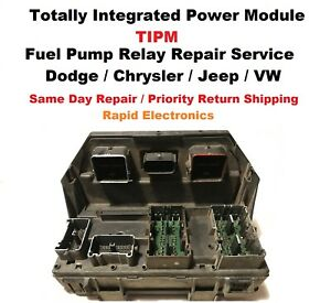 Dodge Ram 1500 2500 3500 2011 2013 Tipm fuse Box Fuel Pump Relay Repair Service
