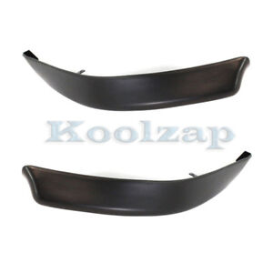 08 15 Lancer Front Bumper Valance Air Deflector Apron Left Right Side Set Pair
