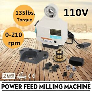 Power Feed X axis 135 Lbs Torque For Bridgeport Type Milling Machines 210rpm