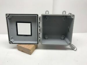 Hoffman 6 X 6 X 4 25 Nema Electrical Enclosure Vented With Window Free Ship