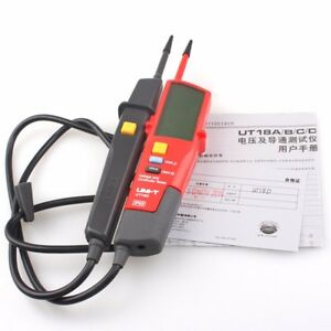 Uni t Ut18d Auto Range Voltage And Continuity Tester With Lcd Backlight Date Ya