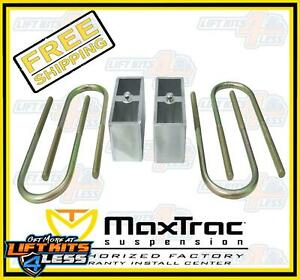 Maxtrac Suspension 430030 3 Block And U Bolts For 1982 2004 Chevy S10 Blazer