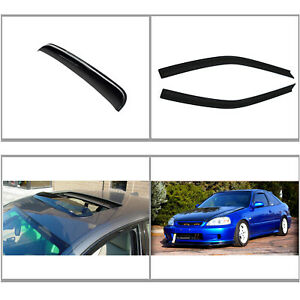 3pc Vent Shade Window Visor sun moon Roof Shield Fit 96 00 Civic Coupe hatchback
