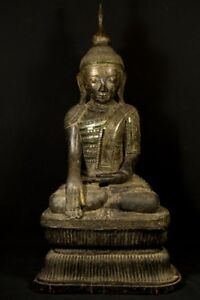 18th Century Large Antique Shan Buddha Statue From Burma Antique Buddha Statue