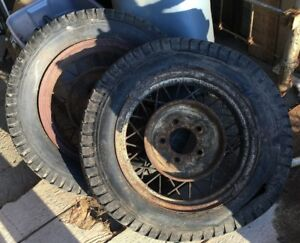 1930 S 2 Vintage Wire Spoke Wheels Rims Car Truck Hot Rod Rat 17
