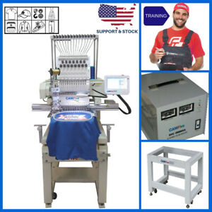 Basic Package 01 Head 12 Colors Camfive Emb Ht1501 Single Embroidery Machine