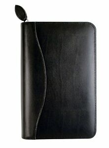 Daily Planner Personal Organizer Set Travel Notebook Bonded Leather Binder Black