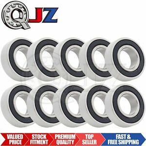 10x 6205 2rs Ball Bearing 1 Inch X 52mm X 15mm Rubber Sealed Premium Rs 2rs Qjz