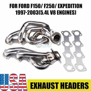 For Ford F150 F250 Expedition 1997 2003 5 4l V8 Engines Exhaust Header System