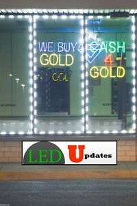 40ft Storefront Window Led Light Bright Flashing White 5630 Ul Power