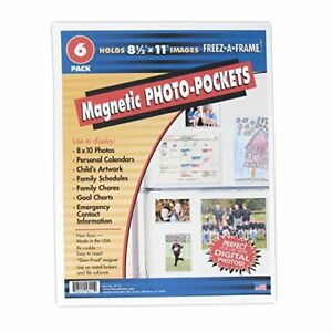 Clear Magnetic Pockets 6 pack Home amp Work Organizers Magnetic Sheet Prot