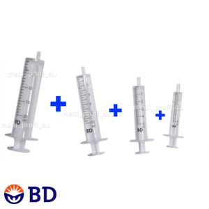 Choice Of Qty Mix Of 2ml 5ml 10ml 20ml Bd Syringes Ink Refil Cycle Fast