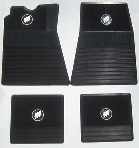 1961 1975 Buick Floor Mats Black With Tri shield Free Shipping