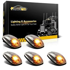 5pc Clear Amber Led Roof Running Top Marker 264146cl Lights Car Truck Suv Pickup