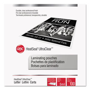 Swingline Gbc Ultraclear Thermal Laminating Pouches 5 Mil 9 X 11 1 2 100 pack