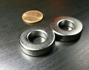 4 Large Neodymium N52 Ring Magnets Super Strong Rare Earth 1 X 1 4
