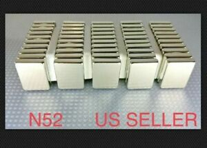 20 Huge Neodymium Block Magnets Super Strong Rare Earth N52 Grade 1 3 4