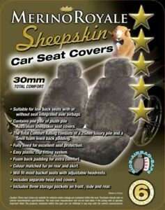 Sheepskin Car Seat Covers For Lexus Models Airbag Safe 30mm Tc 5 Colours