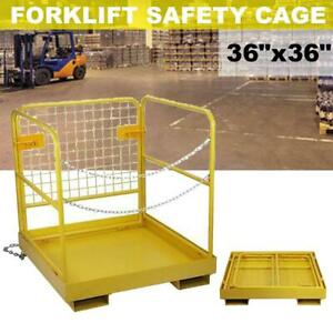 36 X 36 Forklift Safety Cage Work Platform Heavy Duty Collapsible Lift Basket