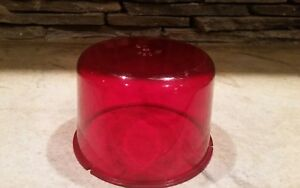 Vintage Na 250 33 Red Emergency Lens For Revolving Light Police Car Fire Truck