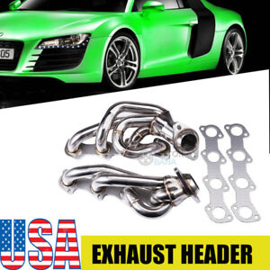 Ford F 150 f 250 Truck 5 4 v8 Stainless Steel Exhaust Chrome Header bolts gasket
