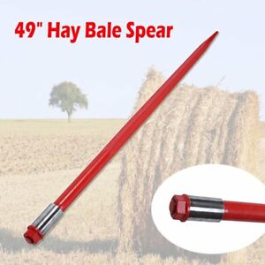 49 Square Hay Bale Spear Spike Fork 3000 Lbs 1 3 4 Wide W Nut Sleeve Conus 2