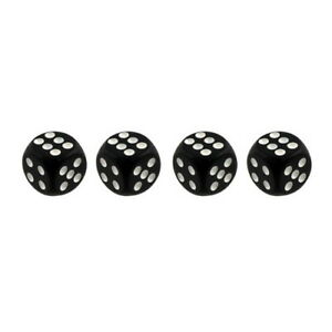 Pilot Automotive Dice Tire Valve Caps 4 Pieces